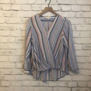 Cynthia Rowley paisley striped top
